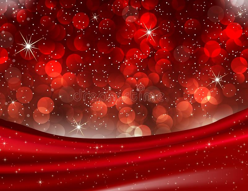 Romantyczna walentynka Czerwony Bokeh zaświeca Eleganckiego miłości tło royalty ilustracja
