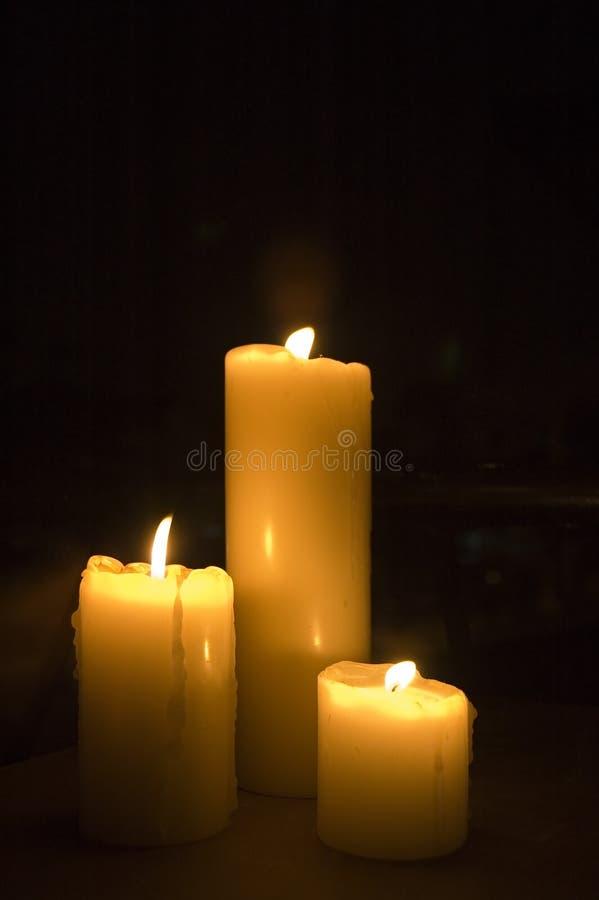 romantyczne świece. obraz stock