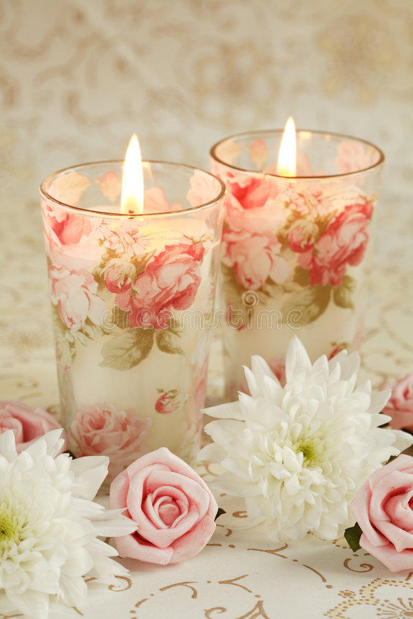 romantyczne świece. fotografia royalty free
