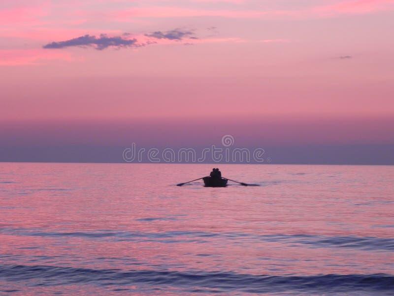 romantyczne słońca fotografia royalty free