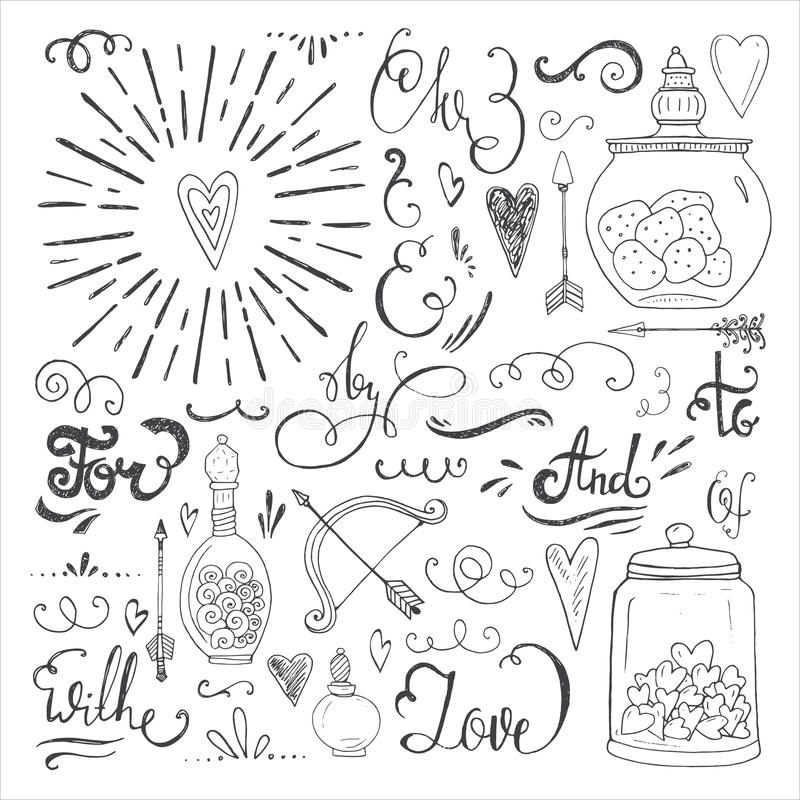 Romantyczni elementy ilustracji