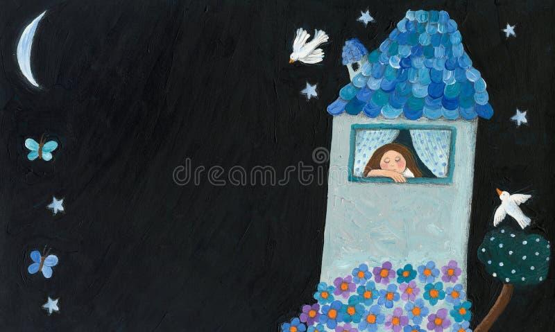 Romantyczny dom ilustracji