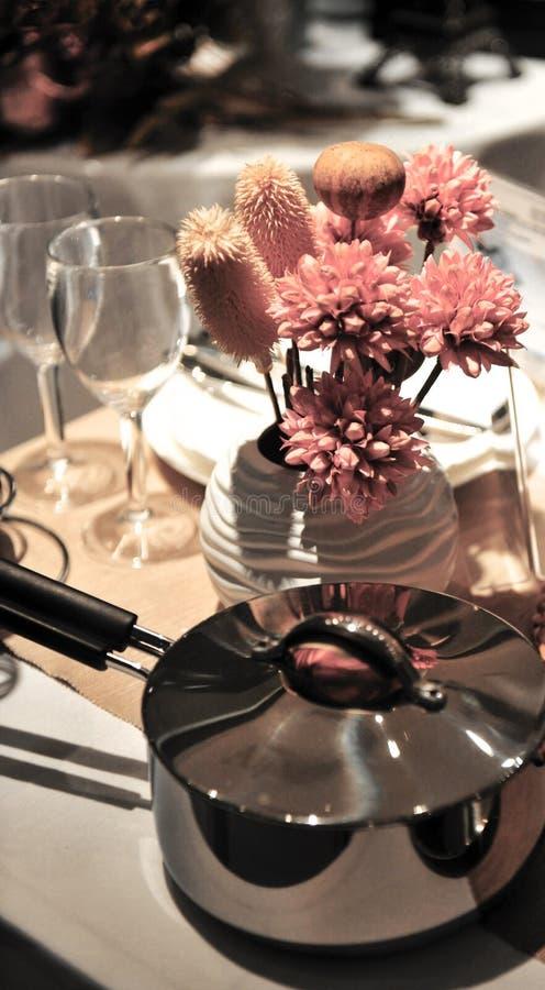 Romantyczny gość restauracji zdjęcia royalty free
