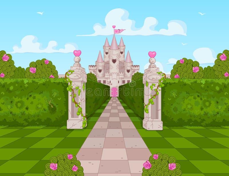 Romantyczny kasztel ilustracja wektor