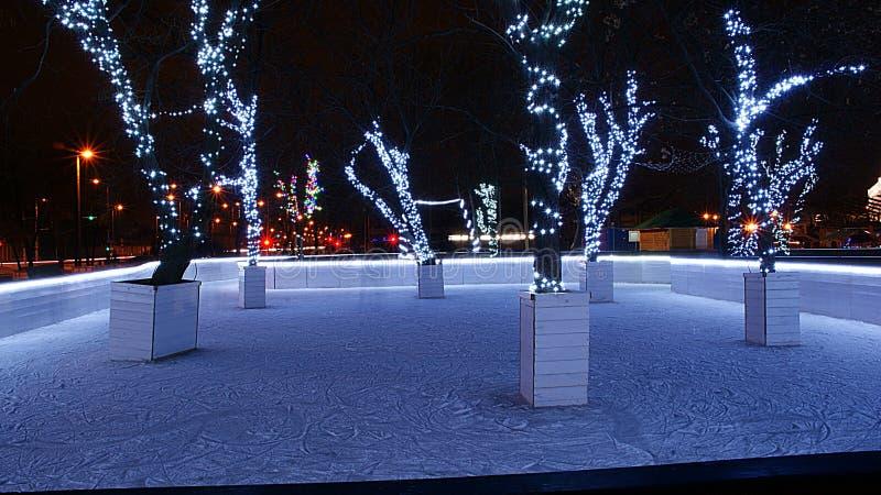 Romantyczny lodowisko zdjęcia stock
