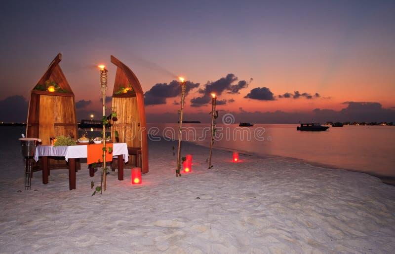 romantyczny obiadowy intymny kurort zdjęcie stock