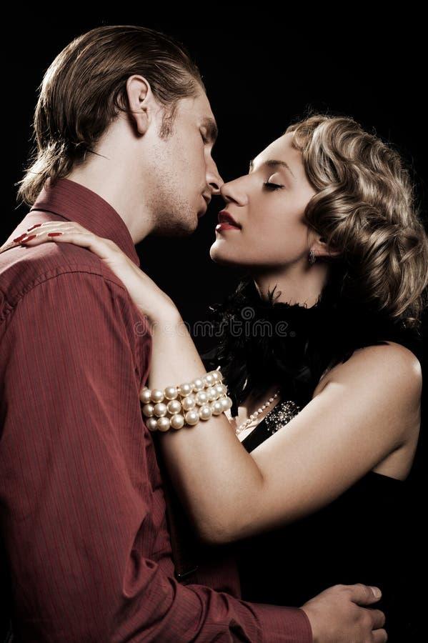 romantyczny para piękny portret zdjęcia royalty free