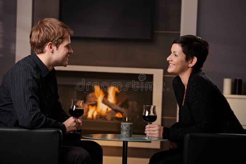 Romantyczny pary datowanie zdjęcia stock