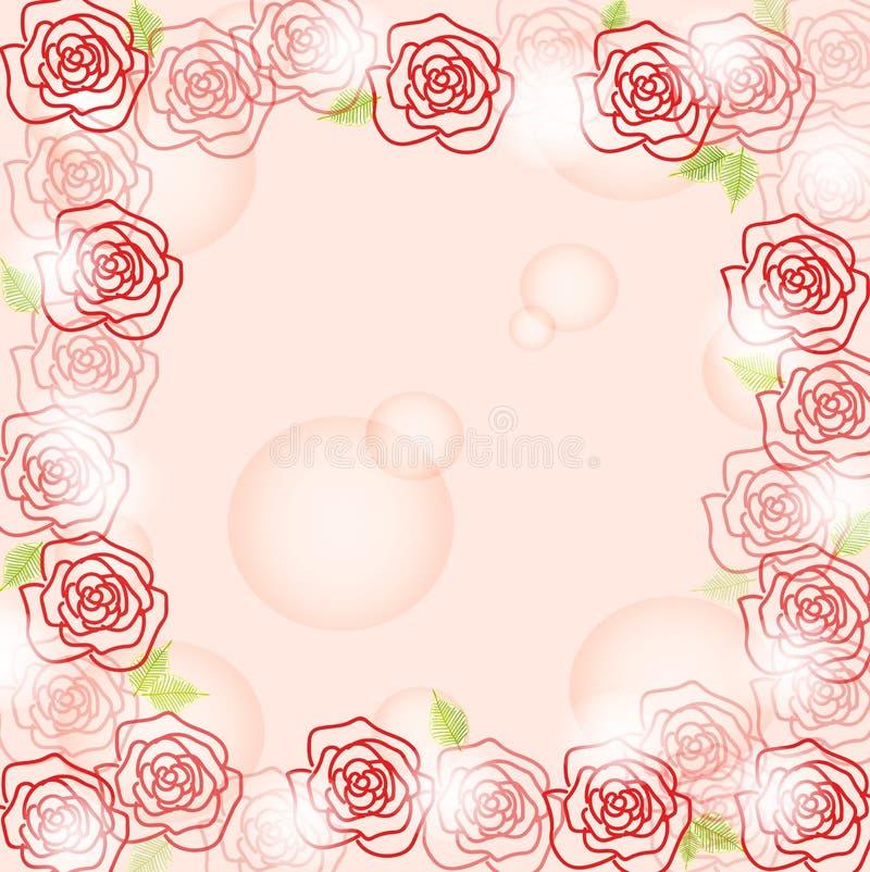 Romantyczny różany tło zdjęcie royalty free