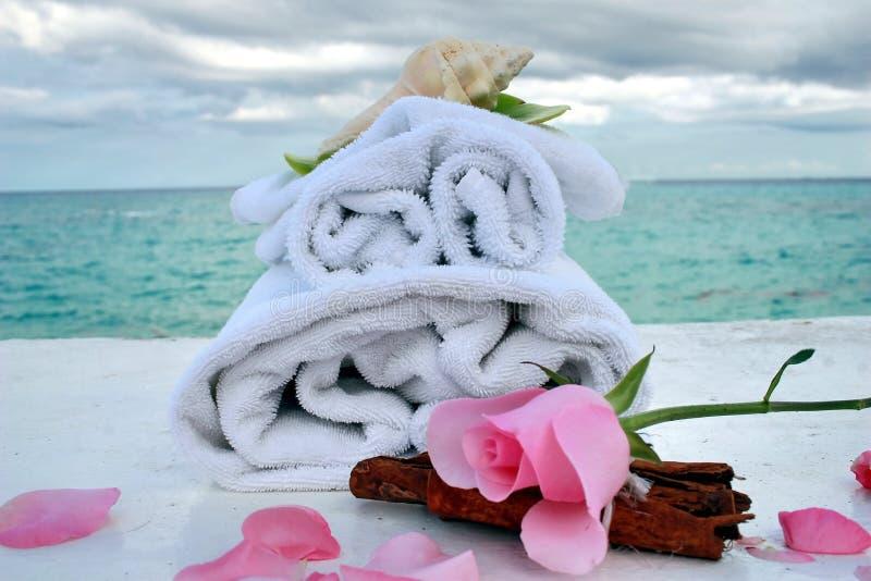 romantyczny spa oceanu fotografia stock