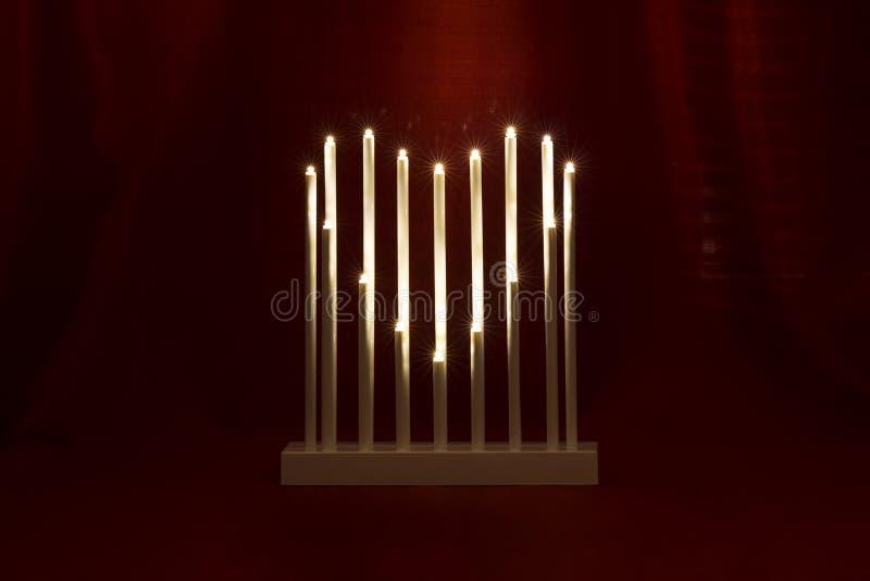 Romantyczny stół z sercem świeczki fotografia royalty free