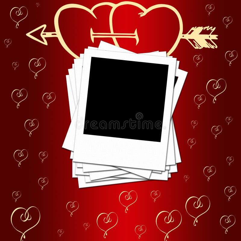 Romantyczny tło ilustracji