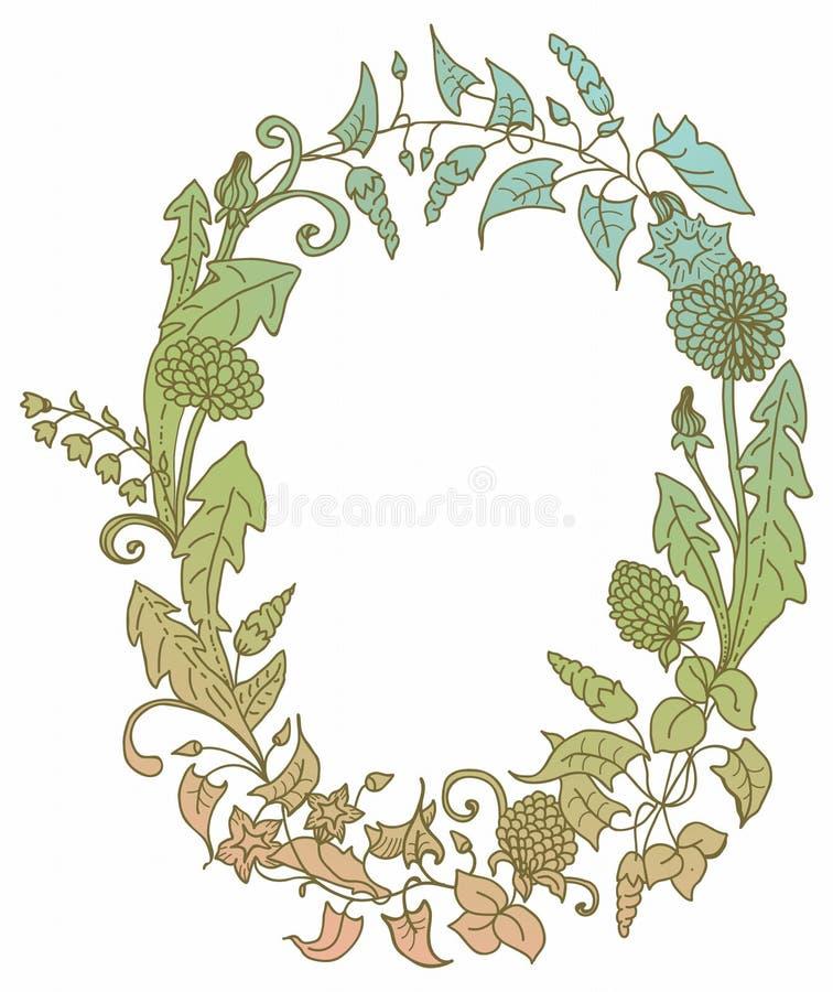 Download Romantyczny Tło Z Dzikiego Kwiatu Wiankiem Obrazy Royalty Free - Obraz: 28809649