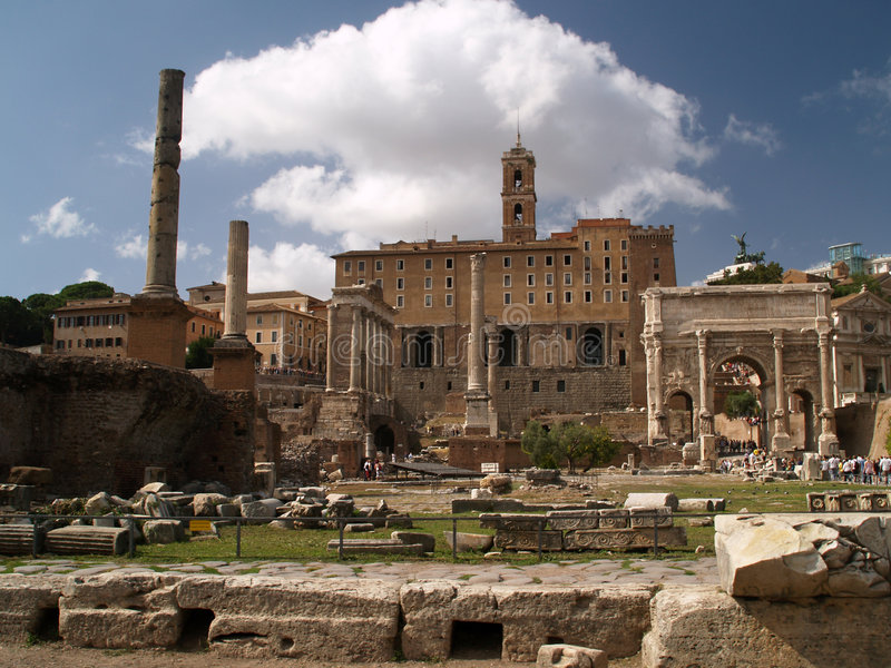 romanum της Ρώμης φόρουμ στοκ φωτογραφία με δικαίωμα ελεύθερης χρήσης
