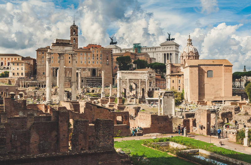 romanum rome форума стоковое фото