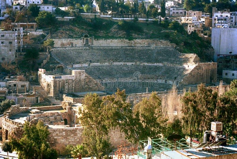 Romare amfiteater, Amman, Jordanien fotografering för bildbyråer