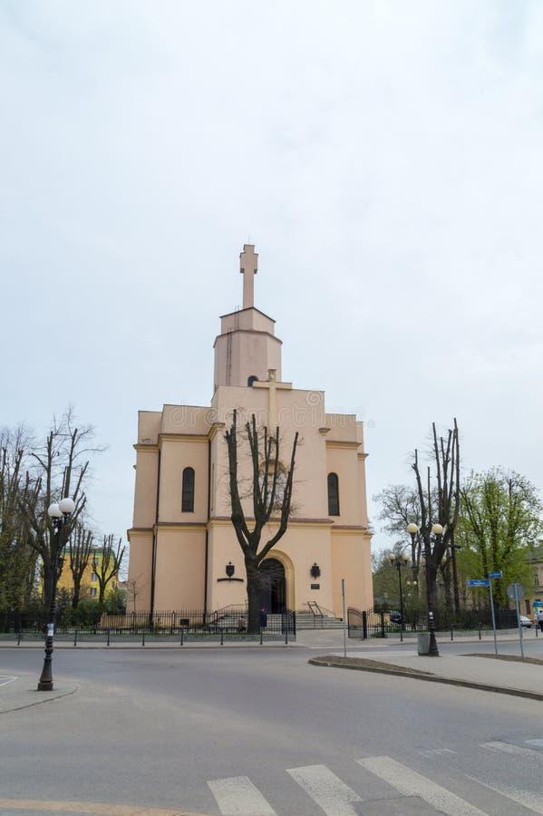 Romare-catolicmilitärkyrka av den sakrala hjärtakyrkan i Siedlce royaltyfri fotografi