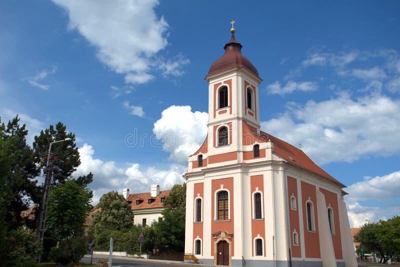 Romare - katolsk kyrka, Balatonalmadi, Ungern royaltyfria foton
