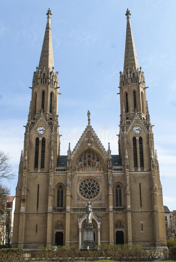 Romare-stil katolsk kyrka av St Elizabeth arkivbild