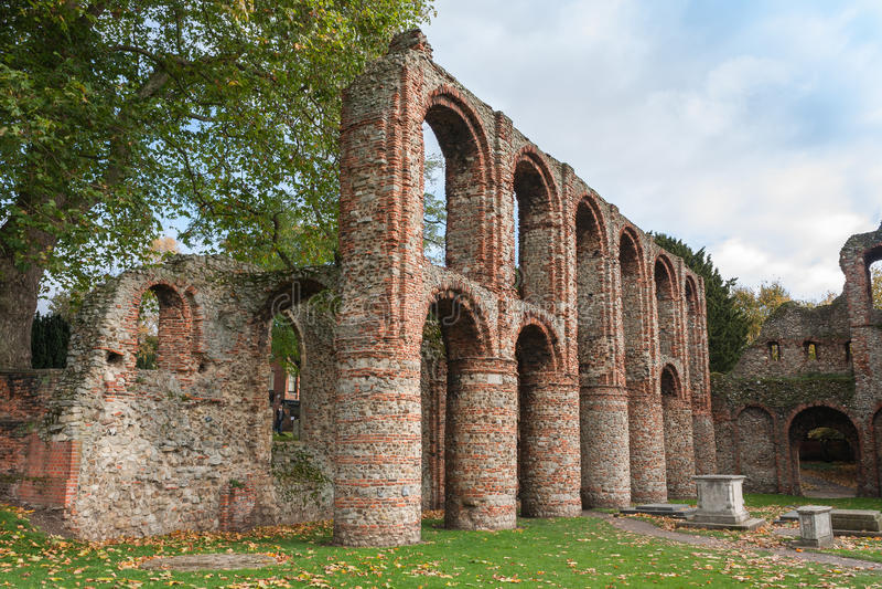 Romaren fördärvar Colchester Essex UK arkivfoto