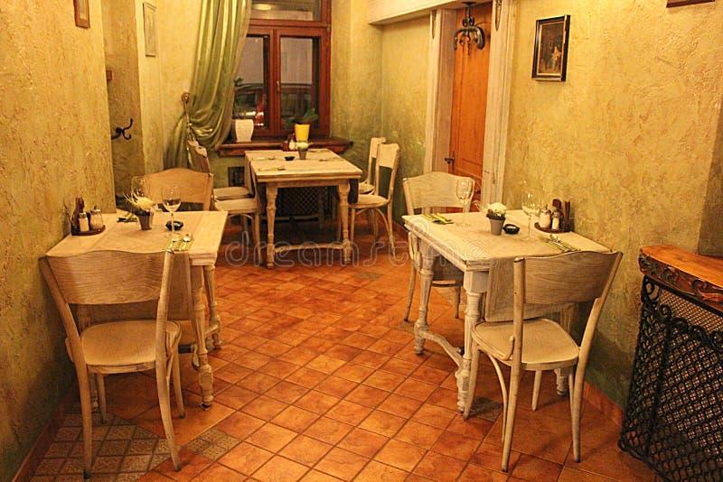 Romatic餐馆 库存图片