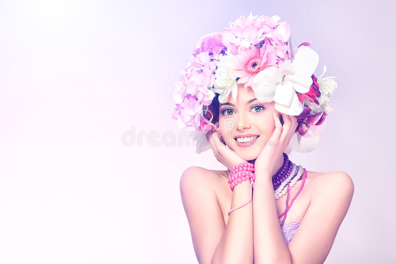 Romatic girl royalty free stock photography