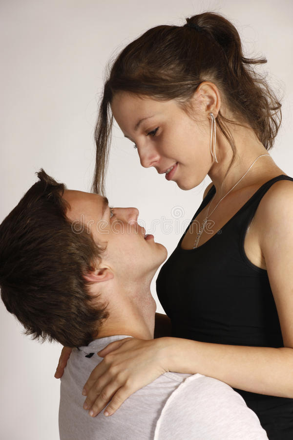 Download Romatic young couple stock image. Image of flirting, togetherness - 21814465