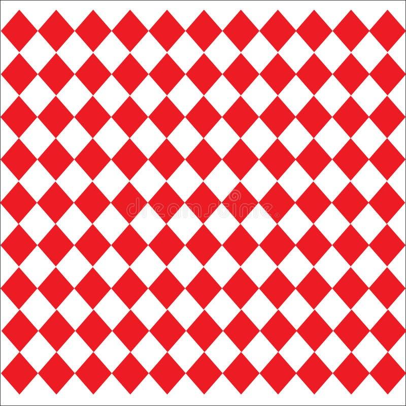 Rombformad lädertexturmodell på vit röd bakgrund stock illustrationer
