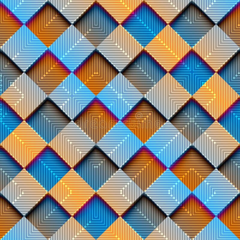 Rombo abstrato geométrico com efeito do inclinação ilustração royalty free