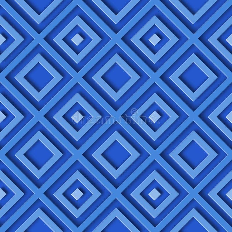 Rombo blu geometrico astratto del modello illustrazione vettoriale