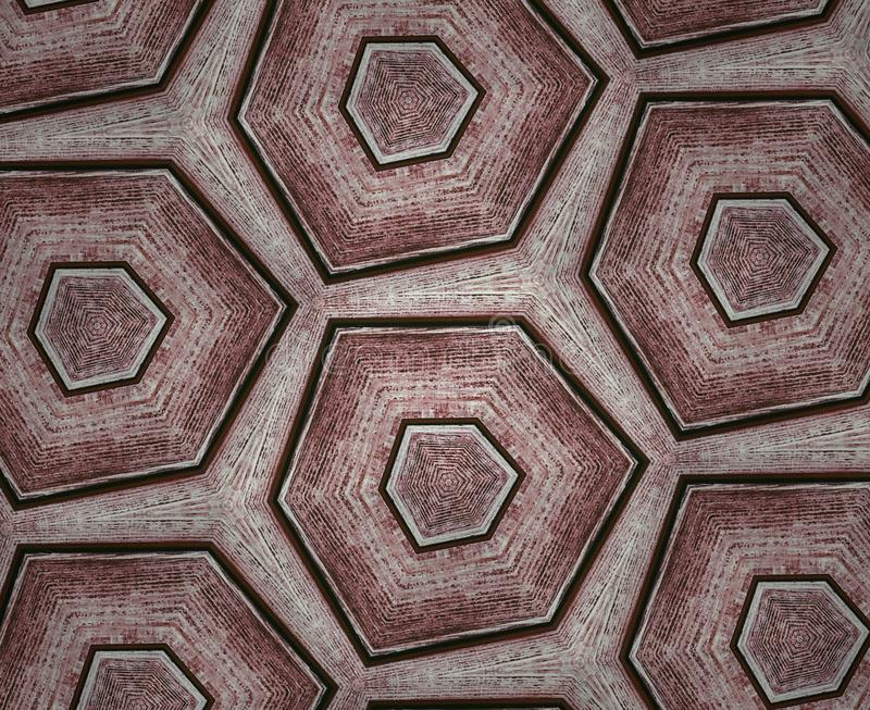 Rombs from woody pattern. Geometric Pattern from wood texture, brown cubs 5 angles, I repeat again and again royalty free stock images