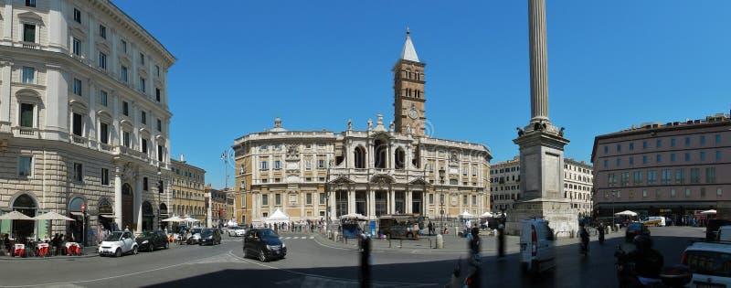Rome - överblick av den påvliga basilikan av Santa Maria Maggiore arkivbild