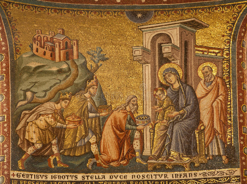 Download Rome -  The Adoration Of The Magi. Stock Image - Image: 24369063