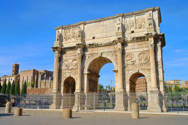Download Rome Arch of Constantine stock image. Image of marble - 23860065