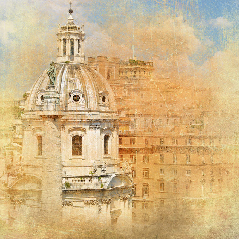 Rome, architecture royalty free illustration
