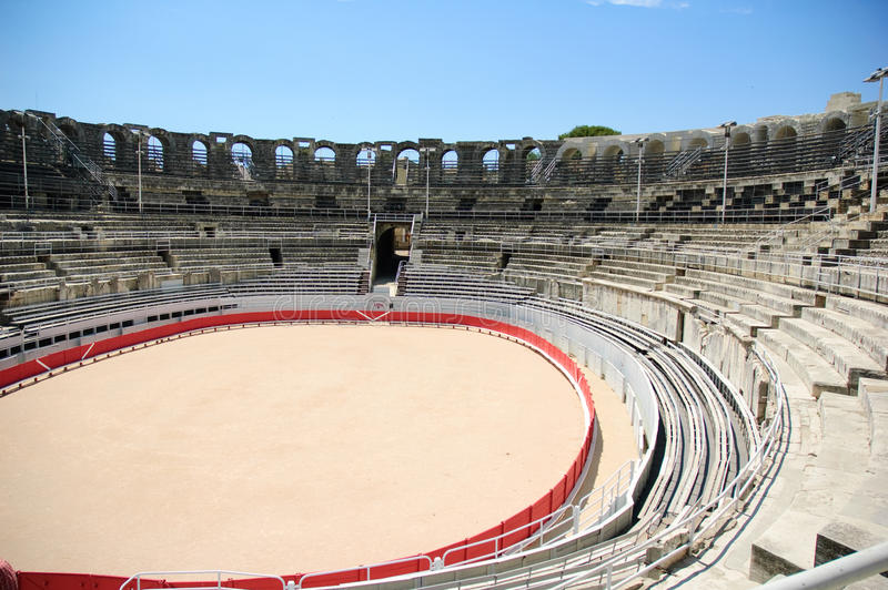Download Rome arena in Arles stock image. Image of horns, sunny - 12229305