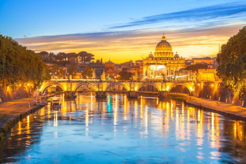 Rome au crépuscule image stock