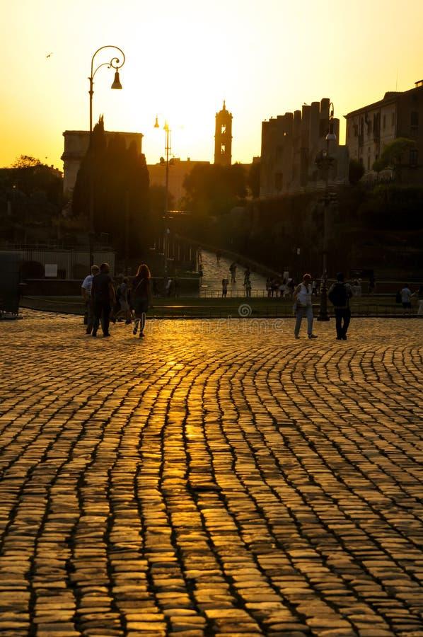 Rome au susnet photo stock
