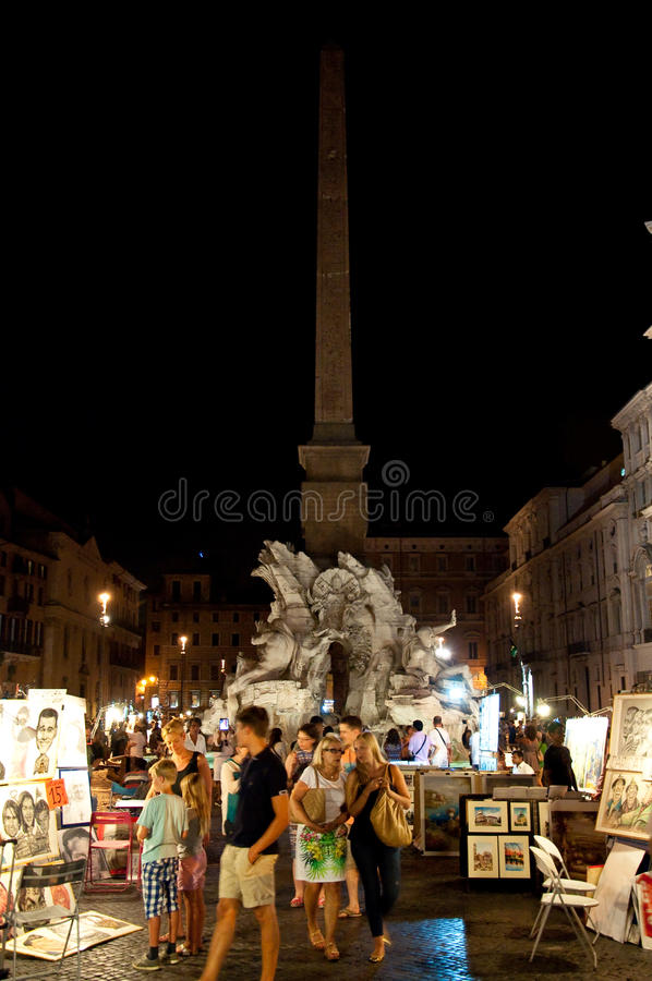 Download ROME-AUGUST 7: Piazza Navona On August 7, 2013 In Rome. Editorial Photography - Image of people, italian: 38183627