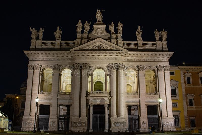 Rome, Basiliek van San Giovanni in Laterano 17/11/2018 stock foto