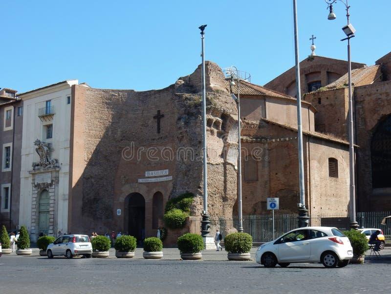 Rome - basilika av Santa Maria degliangelöss och martyr arkivbilder