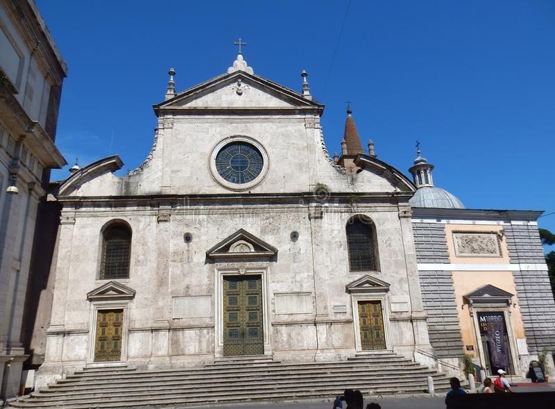 Rome - basilika av Santa Maria del Popolo royaltyfri foto
