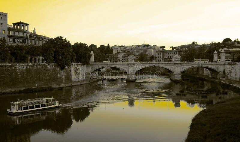 Rome - Bridge on the river royalty free stock photos