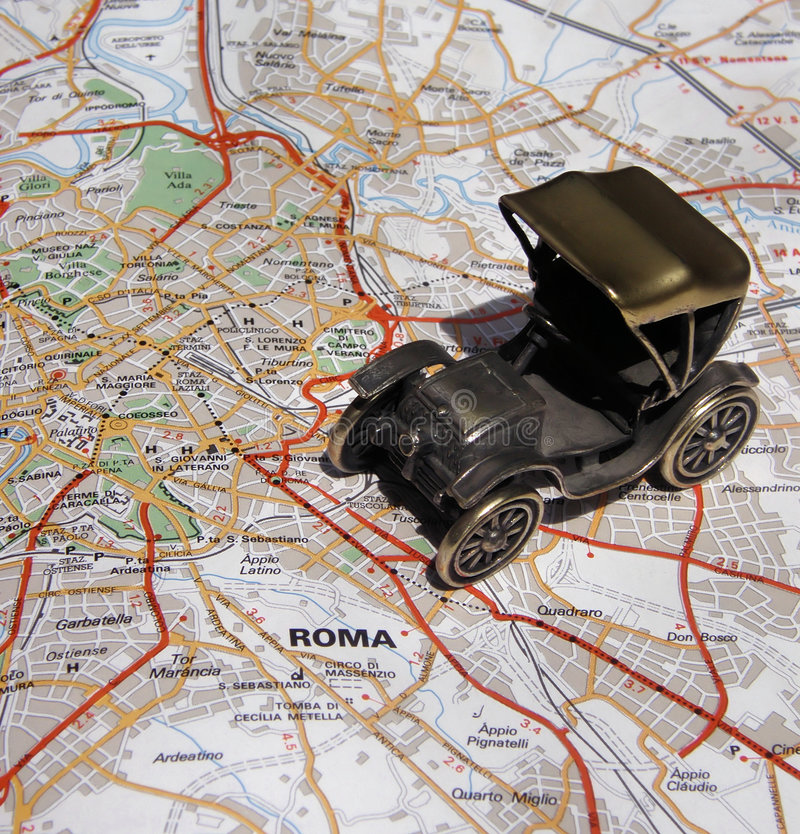 Free Rome By Old Car Royalty Free Stock Photos - 5355698