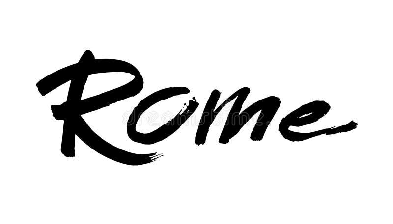 rome Calligraphic stil för modern borste vektorkalligrafi Typografiaffisch Användbart som bakgrund stock illustrationer
