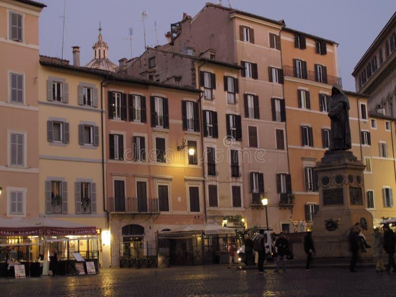 Rome Campo de Fiori royaltyfria bilder
