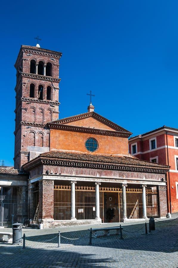 Rome, church San Giorgio in Velabro stock photos