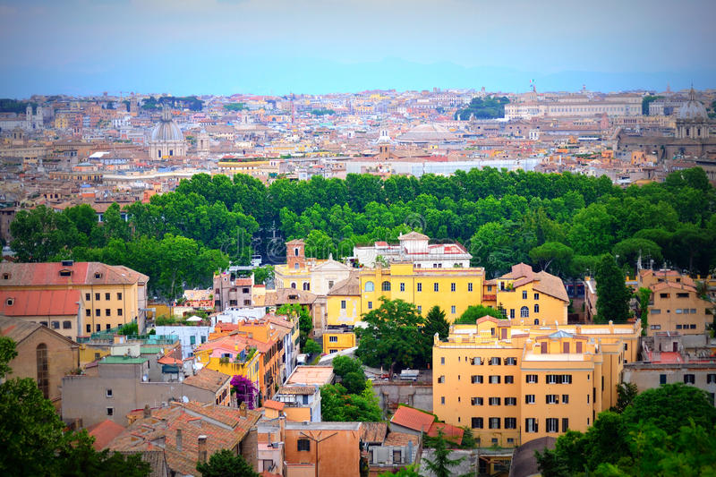 Rome city panorama Italy stock image. Image of lazio - 87548113