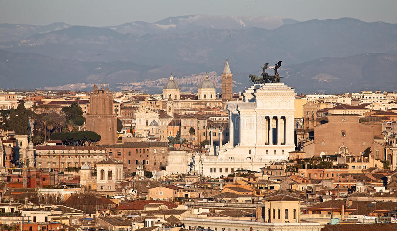 Download Rome city at sunset stock photo. Image of over, color - 18653184