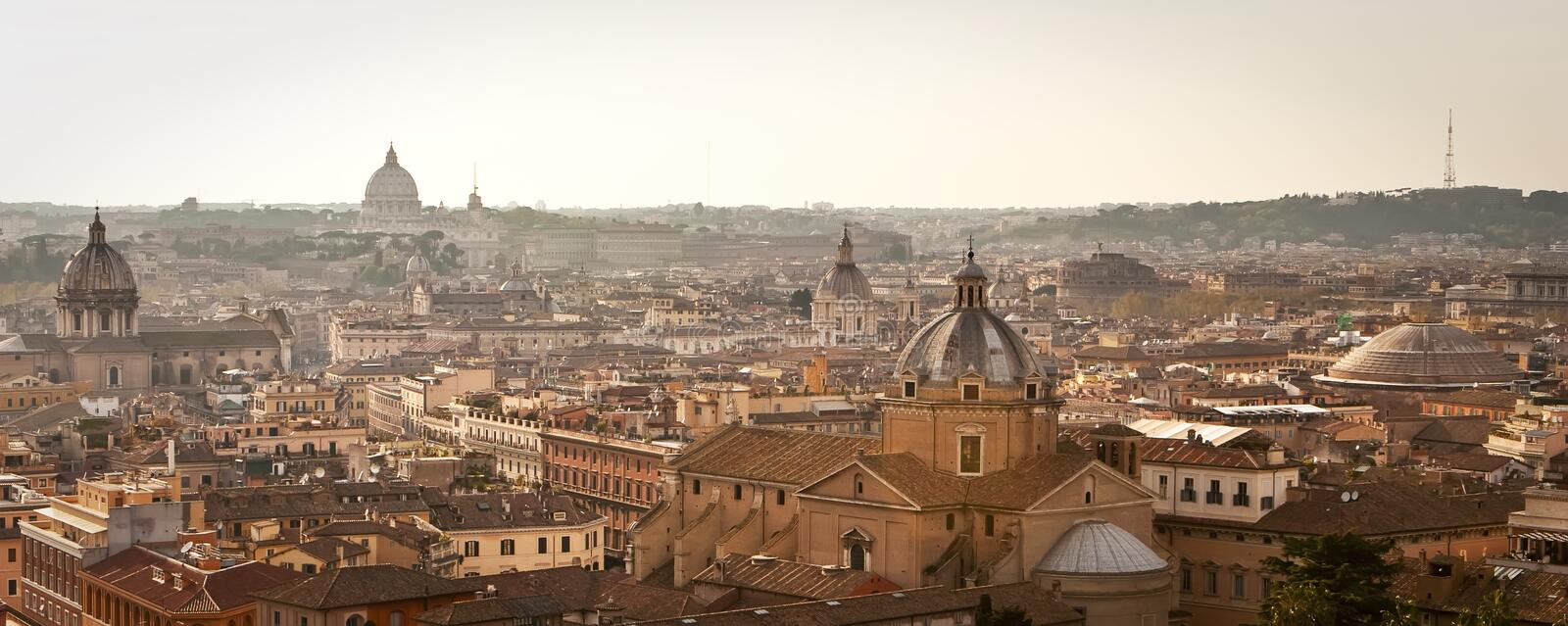 Download Rome cityscape in dusk. stock photo. Image of historic - 11194706